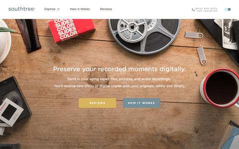 Screenshot of Pricing Page southtree.com - Southtree | Convert Home Movies to DVD - captured Jan. 29, 2018