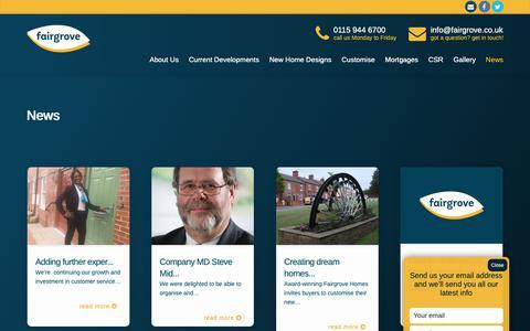 Screenshot of Press Page fairgrove.co.uk - News - Fairgrove Homes - captured Oct. 10, 2018
