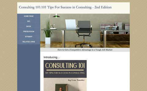 Screenshot of Home Page consulting101book.com - Consulting 101 - captured Oct. 2, 2014