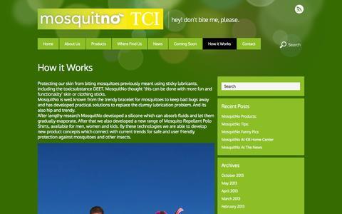 Screenshot of FAQ Page mosquitnotci.com - How it Works - captured Oct. 26, 2014