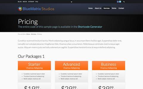 Screenshot of Pricing Page bluematrixstudios.com - Pricing - captured Oct. 10, 2014