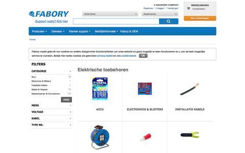 Bij Fabory bestelt u Elektrische toebehoren van hoge kwaliteit | Fabory, Nederland