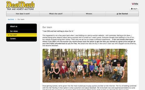 Screenshot of Team Page dealdash.com - DealDash™ - Our team - captured July 3, 2016