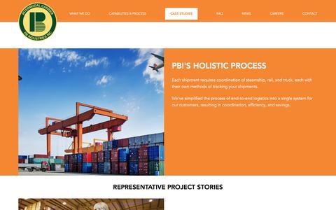 Screenshot of Case Studies Page pbindustries.com - Case Studies   PB Industries - captured July 7, 2017