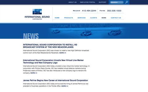 Screenshot of Press Page isctv.com - International Sound Corp :: News - captured Oct. 6, 2014