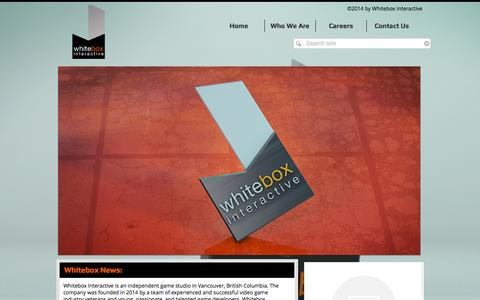 Screenshot of Home Page whiteboxgames.com - whitebox-games - captured Oct. 7, 2014