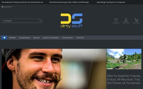 Screenshot of Home Page dirty-stuff.de - Dirty Stuff - captured Oct. 25, 2018