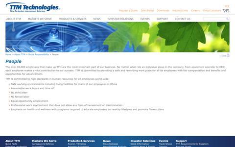 Screenshot of Team Page ttmtech.com - People - TTM Technologies, Inc. - captured Nov. 6, 2018