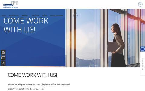 Screenshot of Jobs Page kraiburg-tpe.com - Careers | Kraiburg - captured April 18, 2018
