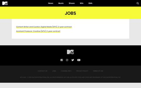 Screenshot of Jobs Page mtvasia.com - MTV Asia Jobs | Work with us at MTV Asia - captured Oct. 19, 2018