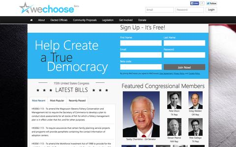 Screenshot of Home Page Privacy Page Contact Page FAQ Page Terms Page wechoose.org - WeChoose.org - captured Oct. 9, 2014