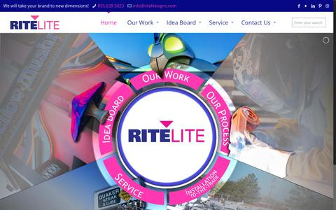 Screenshot of Home Page ritelitesigns.com - Home - Rite Lite Signs - captured Oct. 18, 2018