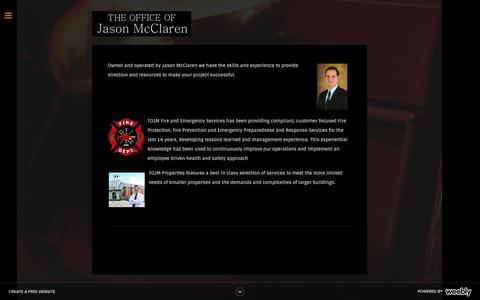 Screenshot of About Page weebly.com - About - The Office of Jason McClaren - captured Oct. 27, 2014