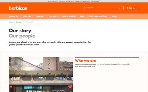 Screenshot of Team Page barbican.org.uk - Our people | Barbican - captured Sept. 22, 2018