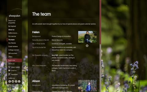 Screenshot of Team Page sheepskinlife.com - The team at Sheepskin - captured Feb. 17, 2016