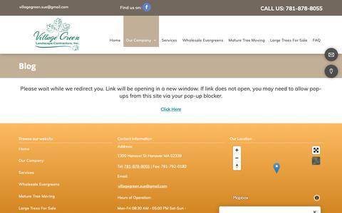 Screenshot of Blog villagegreenlandscapeinc.com - Landscaping Company, Lawn Maintenance | Hanover, MA - captured Dec. 20, 2018