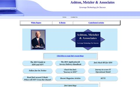 Screenshot of Home Page ashtonmetzler.com - Ashton, Metzler & Associates - captured Feb. 6, 2016