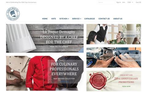 Screenshot of Home Page chefs-hat.com - Chefs Hat Inc. - La Toque Demagny – Chefs-Hat Inc. - captured Nov. 5, 2016