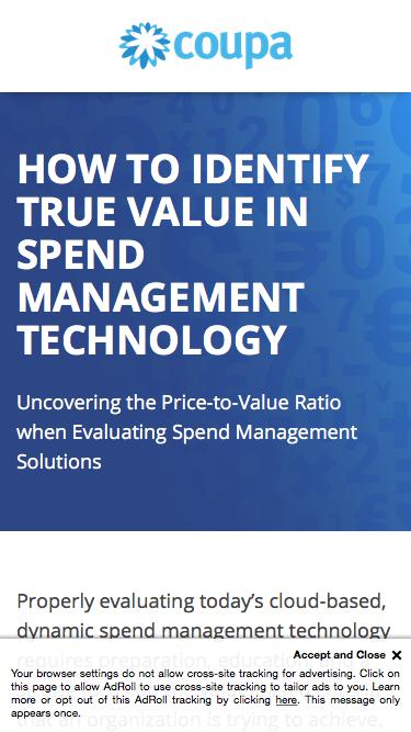 How to Identify True Value in Spend Management Technology | PayStream Report on Spend Management Solutions | Coupa Software