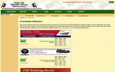 Screenshot of Support Page ukmodelshops.co.uk - UK Model Shops Directory - Sponsors - captured Nov. 4, 2014