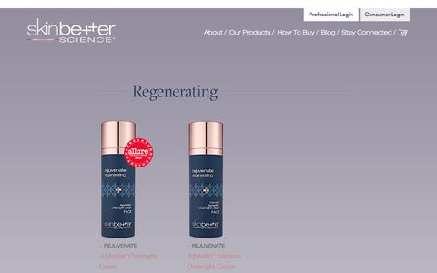 Screenshot of Products Page skinbetter.com - Products | skinbetter science - captured May 28, 2017