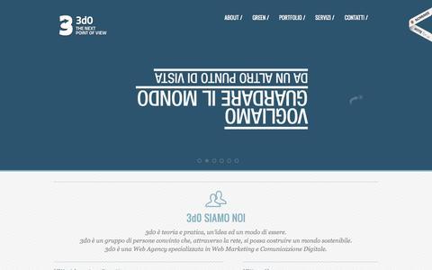 Screenshot of Home Page 3d0.it - Web Agency | 3d0 Digital Agency - captured Sept. 5, 2015