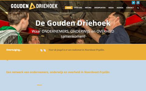 Screenshot of Home Page degouden3hoek.nl - De Gouden Driehoek - captured Nov. 13, 2018