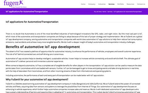 IoT applications for Automotive/Transportation