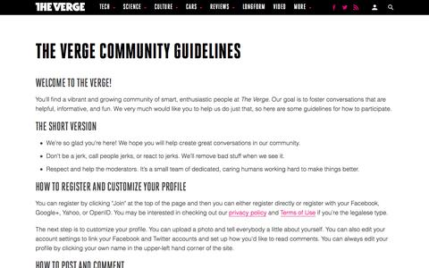 The Verge Community Guidelines - The Verge