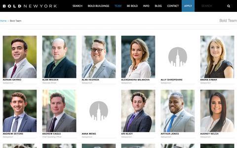 Screenshot of Team Page boldnewyork.com - Bold Team - captured June 2, 2017