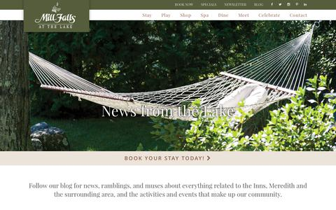 Screenshot of Blog millfalls.com - Blog - Mill Falls - captured Feb. 13, 2016