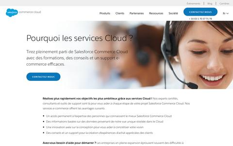 Screenshot of Services Page demandware.fr - Formation, support et services e-commerce | Demandware - captured June 26, 2017