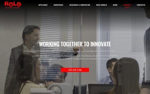 Screenshot of Jobs Page rold.com - Careers – Rold website - captured Nov. 17, 2018