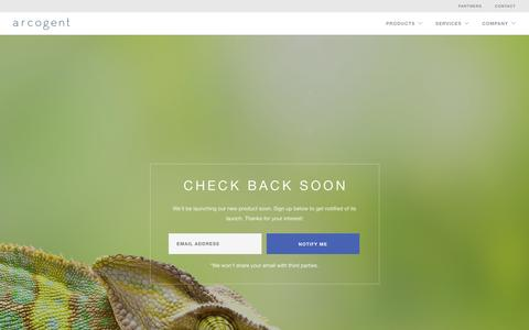 Screenshot of Products Page arcogent.com - Chameleon | Arcogent, Inc - captured Sept. 13, 2016