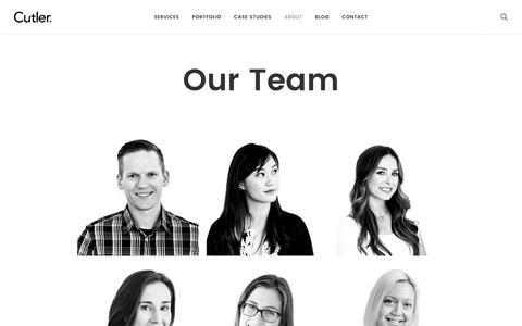 Screenshot of Team Page cutlerdc.com - Our Team | Cutler, Vancouver Canada - captured Nov. 12, 2016