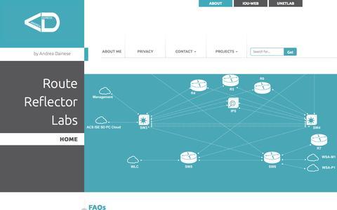 Screenshot of FAQ Page routereflector.com - FAQs - captured Sept. 24, 2015