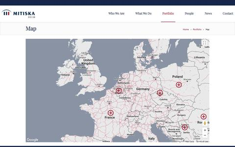 Screenshot of Maps & Directions Page mitiska-reim.com - Map - Mitiska REIM - captured Nov. 14, 2017