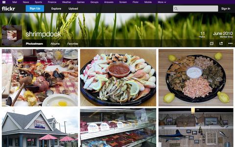 Screenshot of Flickr Page flickr.com - Flickr: shrimpdock's Photostream - captured Oct. 24, 2014