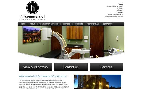 Screenshot of Home Page hillcommercial.com - Hill Commercial Construction | HCC | Littleton, CO 80120 - captured Jan. 23, 2015