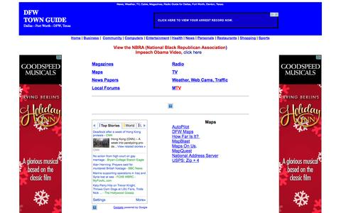 Screenshot of Press Page dfwtownguide.com - News Radio TV Weather Dallas Fort Worth, DFW TX. - captured Oct. 5, 2014