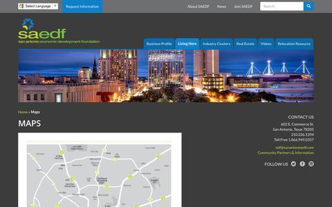 Screenshot of Maps & Directions Page sanantonioedf.com - Maps - San Antonio EDF - captured Jan. 21, 2016