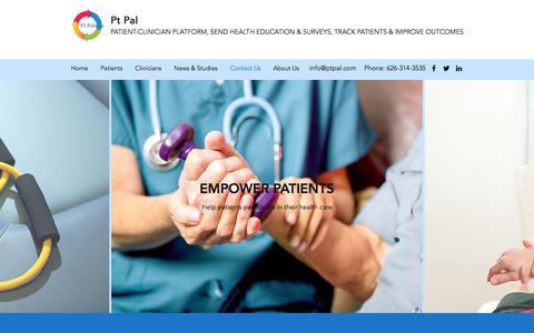 Screenshot of Contact Page ptpal.com - Contact Us   Pt Pal - captured July 12, 2018