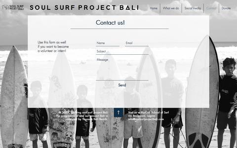 Screenshot of Contact Page soulsurfprojectbali.com - soulsurfprojectbali   Contact - captured July 6, 2017