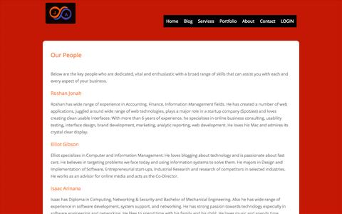 Screenshot of Team Page janz.co - Our People | Jonah & Associates - captured Oct. 6, 2014