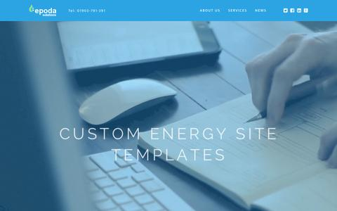 Screenshot of Home Page epoda.co.uk - Welcome  - Epoda Solutions - captured Feb. 2, 2016