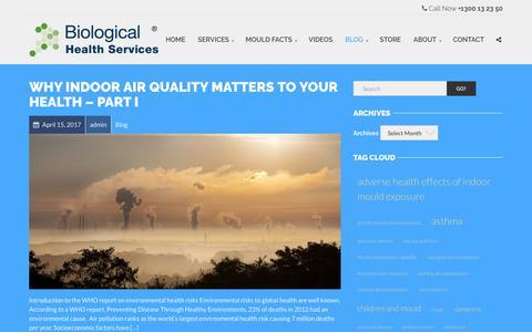 Screenshot of Blog biologicalhealthservices.com.au - Blog Archives - biologicalhealthservices.com.au - captured June 1, 2017