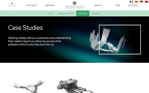 Screenshot of Case Studies Page batten-allen.com - Case Studies | Quality Precision Engineering | Batten & Allen - captured Oct. 10, 2017