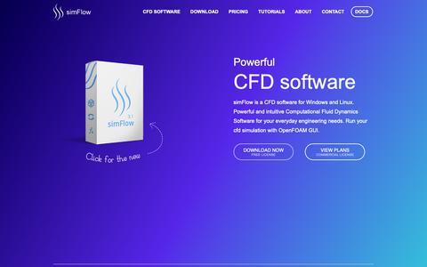 Screenshot of Home Page sim-flow.com - SimFlow CFD Software - OpenFOAM® GUI - captured Oct. 4, 2018