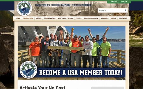 Screenshot of Signup Page unionsportsmen.org - Join - Union Sportsmen's Alliance - captured Oct. 18, 2018