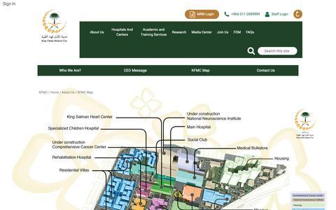 Screenshot of Maps & Directions Page kfmc.med.sa - Pages - KFMC Map - captured Nov. 15, 2018